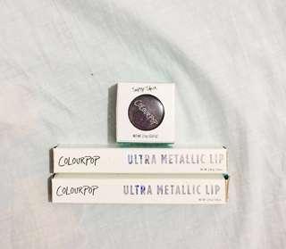 COLOURPOP Ultra Metallic Lip & Super Shock Eyeshadow Bundle