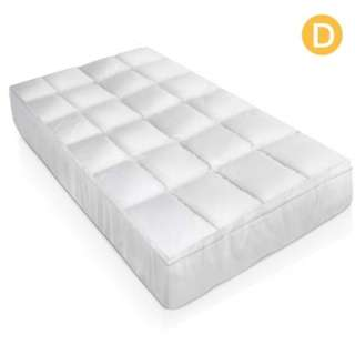 Double Bed Size Duck Feather & Down Mattress Topper