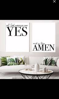 Set of 2 God Promises Christian art print