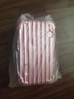 🚚 硬殼 迷你行李箱化妝包 手拿包 顏色如圖