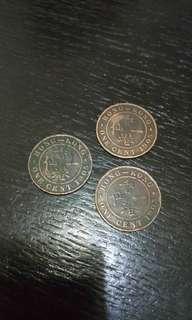 香港一仙 1905年 3個