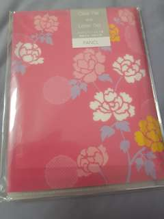Japanese prints clear file and letter set