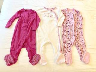 🚚 Mothercare 9-12 months Footed Sleepsuit