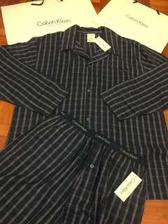 Calvin Klein men pyjama set 男裝 睡衣 連 褲 全套 舒適