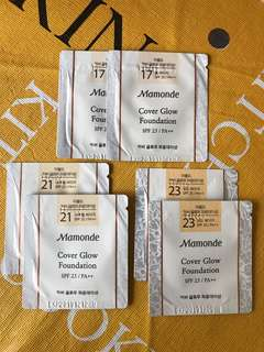 Mamonde Cover Glow Foundation Sachets