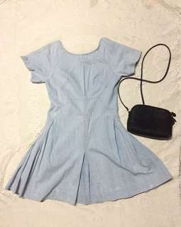 Denim Dress (Zip Back)