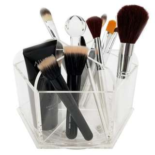 (PO) Rotating Acrylic Makeup Brush Organizer