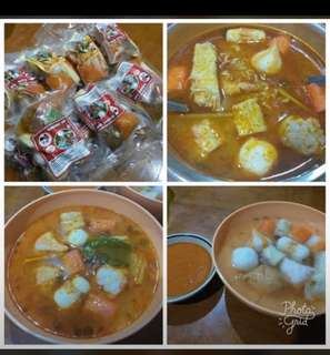 Babang suki tomyam soup and chicken soup