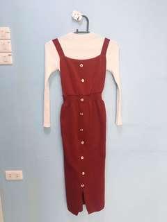 Red jumper dress