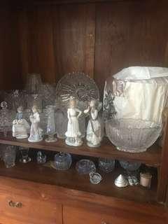 Bohemia Crystal vase figurines bowls plates