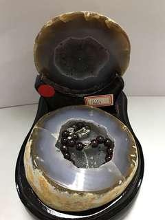 瑪瑙水晶聚寶盆 重1kg