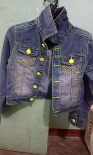 Maong jacket for kids