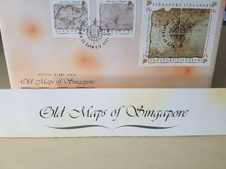 Old Maps Of Singapore FDC 1989