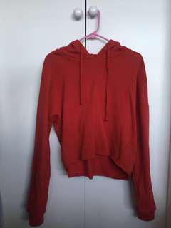 Glassons Red cropped sweater size 6