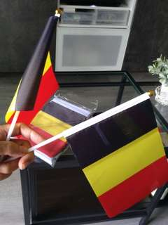 BELGIUM flags, hand waving, full sized