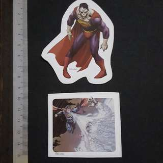 C5B DC Comics Superman Freeze Breath & Bizarro Sticker Stickers