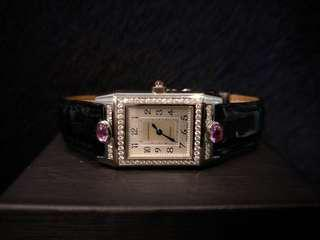 Jaeger lecoultre reverso Ladies with diamonds and pink sapphire