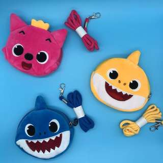🚚 Pink Fong Baby Shark Cute Sling Pouch With Music 🎵