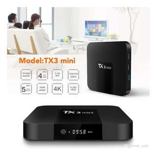 Tx3 mini 2G ram + 16G rom Android Box with 1000+ channels