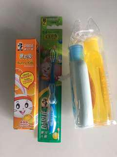 BB牙刷牙膏、Johnson's 旅行套裝