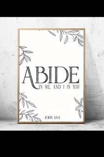 Abide in me and I in you Art print
