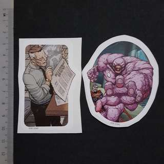 C5B DC Comics Perry White & Parasite Sticker Stickers