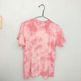T Bar Pink and Off White Tie Dye T-shirt