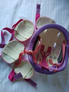 Barbie Bike Riding Helmet, Knee and Elbow pads
