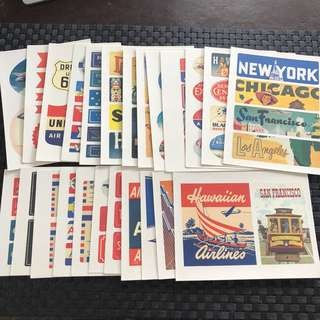 CAVALLINI & Co. stickers (Americana and Par Acion)