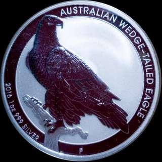 2016 Australia 1 oz Wedge-Tailed Eagle Silver BU