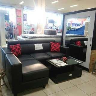 Jual kredit sofa minimalis hitam polos