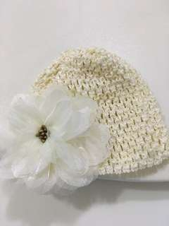 Baby girl hat- Ivory white