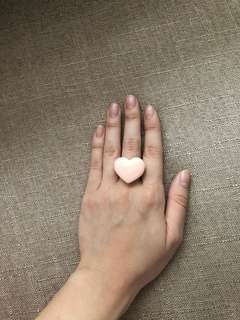 Pink Heart Ring