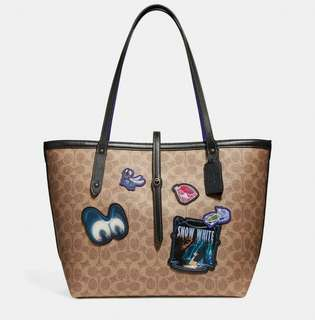 COACH X DISNEY MARKET TOTE BAG WITH PATCHES ( F31160 )
