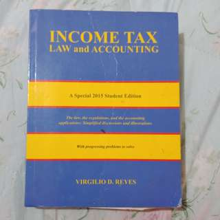 Income Tax Law and Accounting by V. Reyes