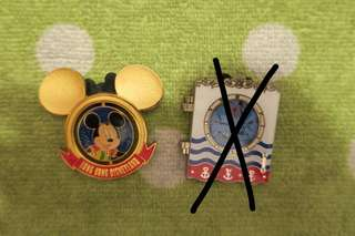 Disney pin 迪士尼 襟章 徽章