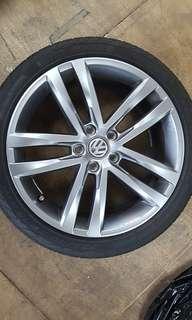 "Volkswagen Golf EQP 18"" rims with tires"