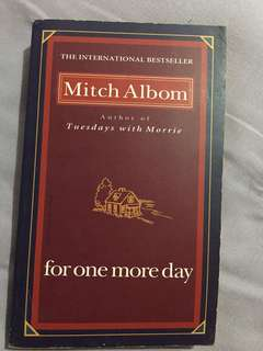 Book : For one more day by Mitch Albom