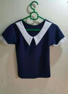 Korean blouse crop top