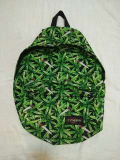 bag with weed pattern