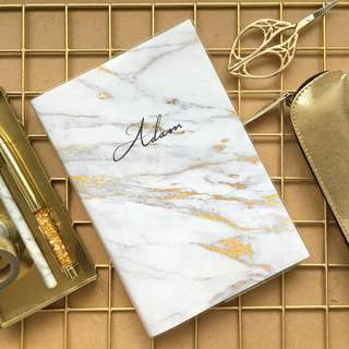 Marble Notebook In Gold