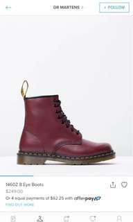 Genuine maroon doc martins