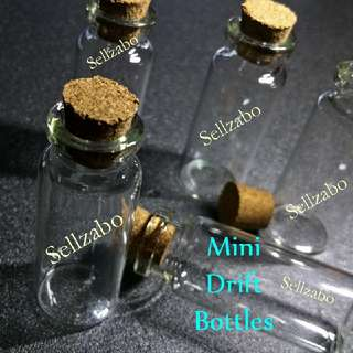 Small Message Wishing Wish Hope Drift Fragile Glass Bottles Cute With Cork Cover Sellzabo Craft 5.5cm 5cm Containers Handmade Gift Presents Lucky Stars