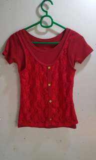 Red blouse sando front