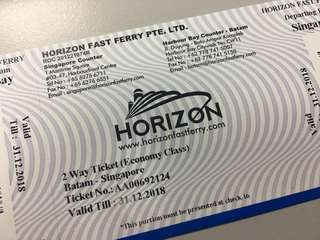 🚚 Horizon ferry ticket (two ways) include all the port charges