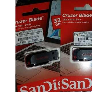 SanDisk USB 手指 32G  全新 (  原廠保養 5年 )
