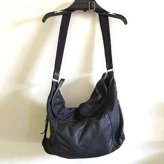 Chat chat leather hobo messenger bag