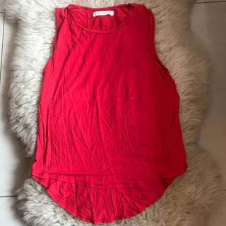(Preloved) new look red tank