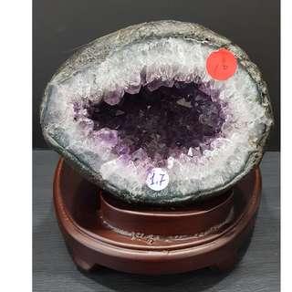 Mini Round Ameythst Geode 紫晶小圆洞