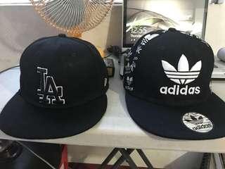 Adidas and LA cap
